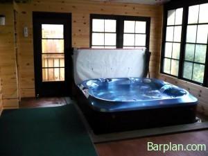 three season room hot tub