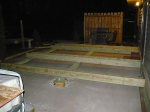 setting foundation framing boards