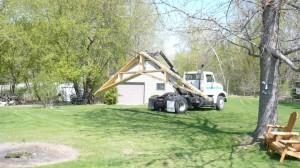 truck delivering building materials