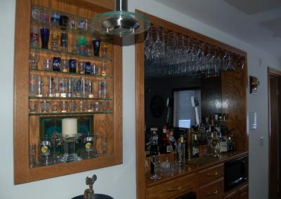 bar back shelving