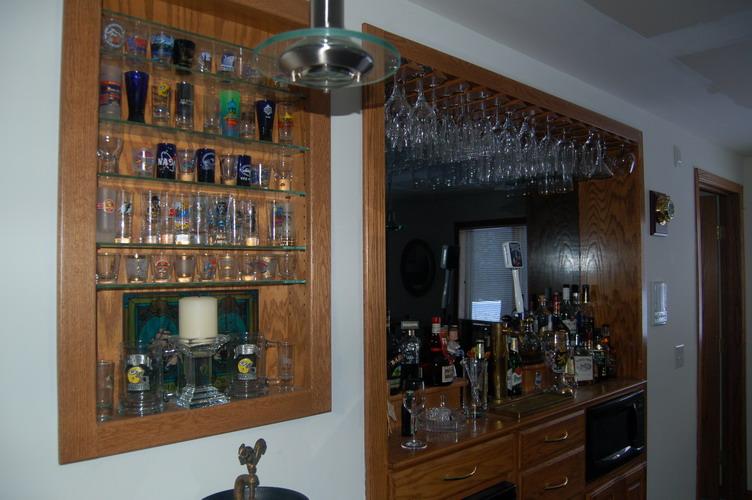 bar back shelving