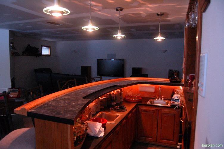 Curved Bar Rail Masterpiece Easy Home Bar Plans