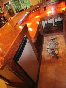 how to build a cool home bar like this
