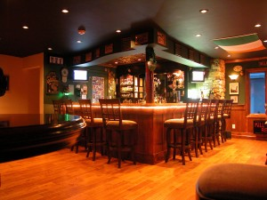 Irish Pub in the Garage | Easy Home Bar Plans