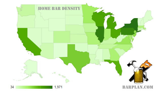 home bar density map