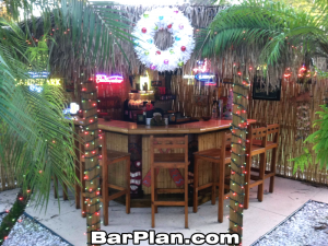 tropical tiki bar