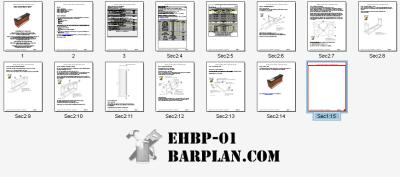 8 foot straight bar design plan set