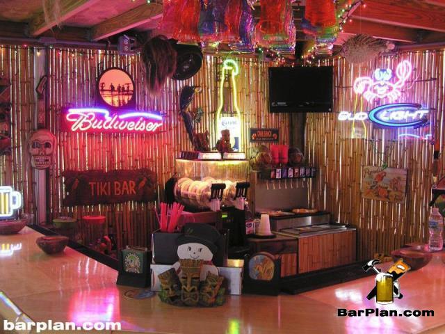 tropical tiki bar design