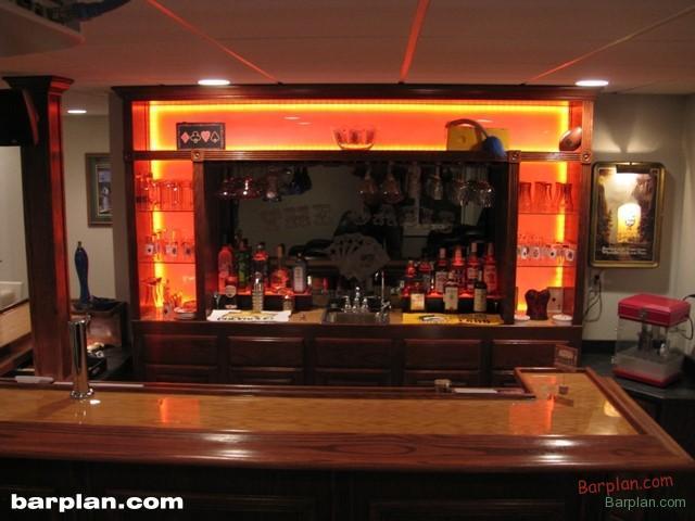Led Bar Back Lighting Easy Home Bar Plans