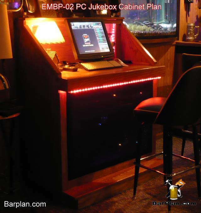 lighted home bar jukebox cabinet