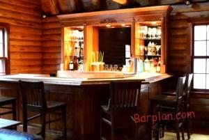 Rustic Log Cabin Bar Easy Home Bar Plans