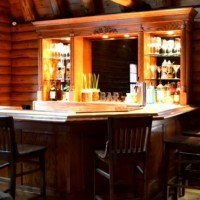 Rustic Log Cabin Bar