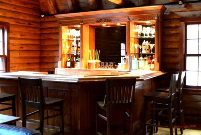 Rustic Log Cabin Bar