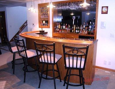 custom curved bar rail