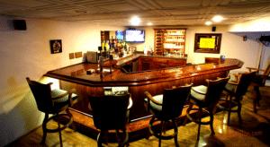 angled home bar