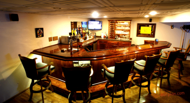 Angled Home Bar Design