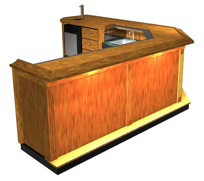 Easy Home Bar Plans 3d Illustrated Printable Plans