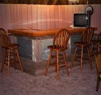 rustic western bar made with barn wood