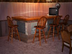 rustic western bar made with barn wood