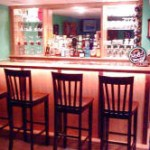 Warm Pub with Accent Lights