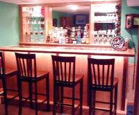 classic warm home bar pub