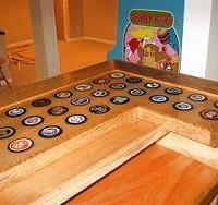 hockey puck bar top