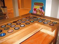hockey puck bar top
