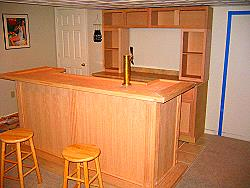 EHBP-11 Illuminated Bar Back Design | Easy Home Bar Plans