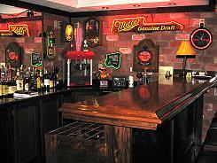 man cave bar