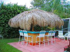 thatched tiki bar