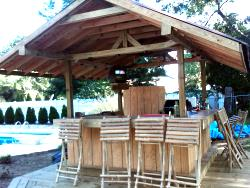tiki bar hut front view