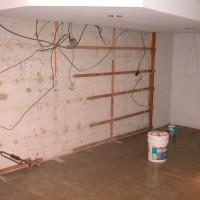 basement bar work prep