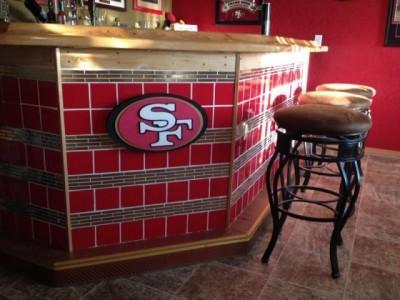 49er's home bar theme