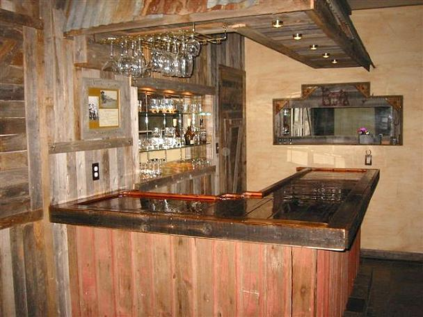 Rustic Style Home Bars Easy Home Bar Plans