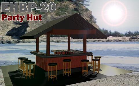 EHBP-20 Tiki Bar Hut Design | Barplan