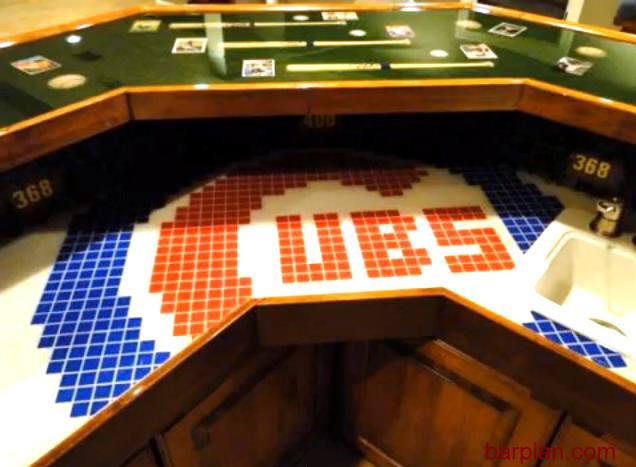 Chicago Cubs Home Bar