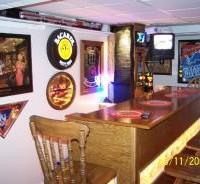 glass block home bar