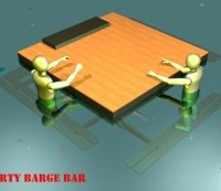 swim up bar cad rendering