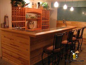 bar with wine rack bar back