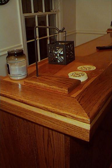 oak bar detail