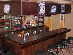 Harley bars easy home bar plans for Meuble jack daniels