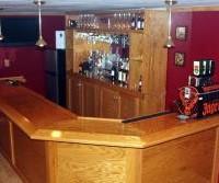 basement bar 45 degree corner