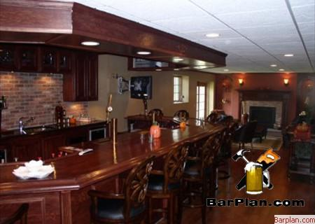 cozy basement bar