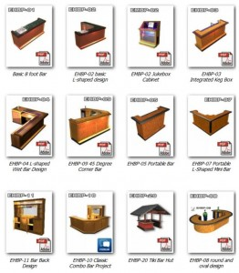 home bar plans catalog