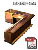 L-shaped wet bar design with keg box
