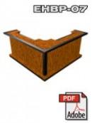 portable l-shaped mini bar