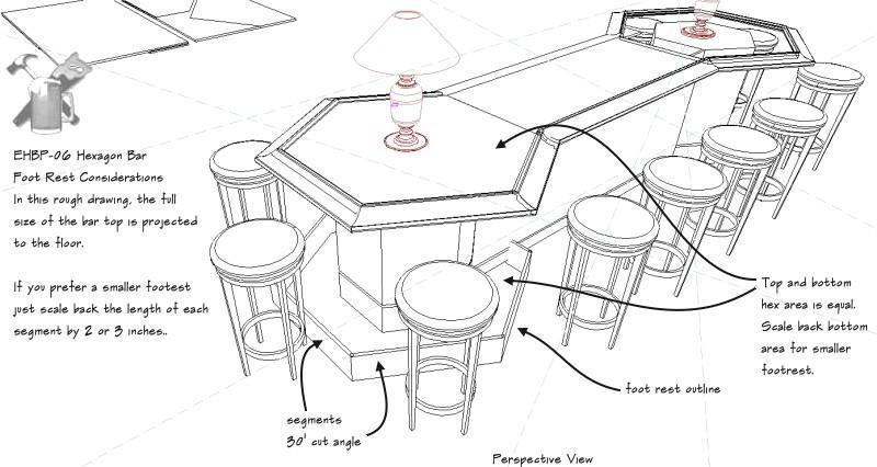 hexagon cocktail bar