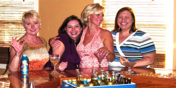 ladies night entertaining at home bar