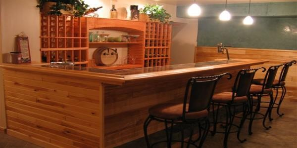 wine bar and wine rack bar back