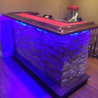 purple LED bar lights